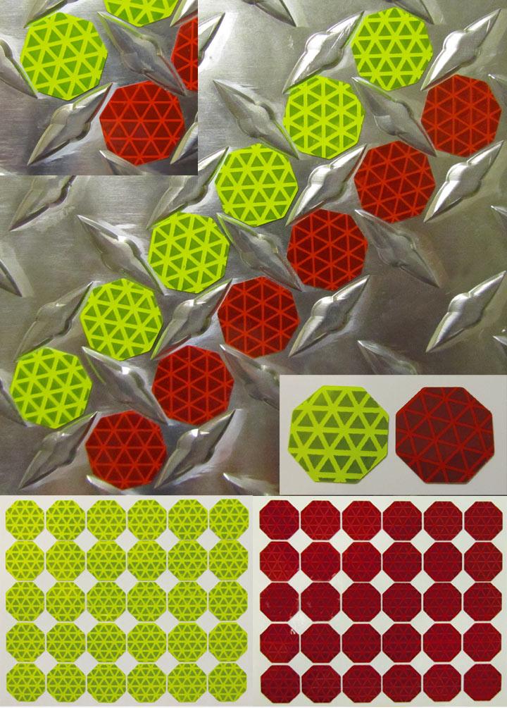 octagons reflective diamond plate