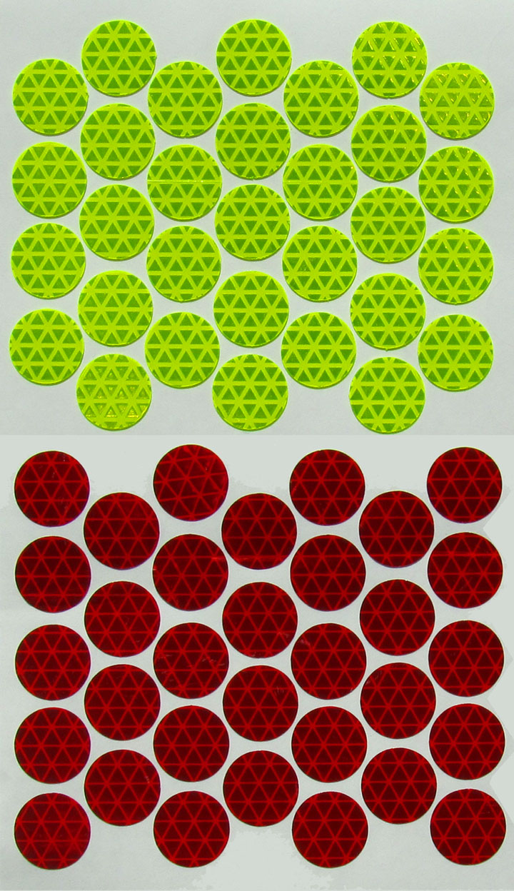 accident scene safety reflective dots