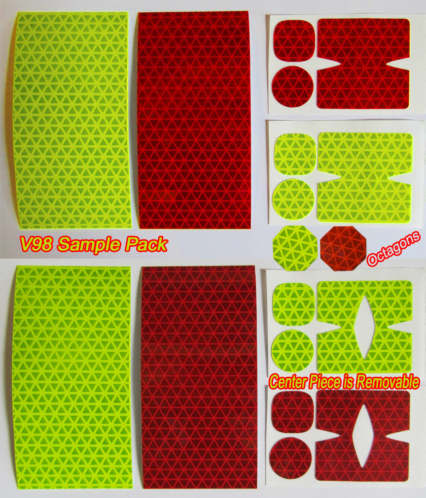 reflective dots for diamond plate