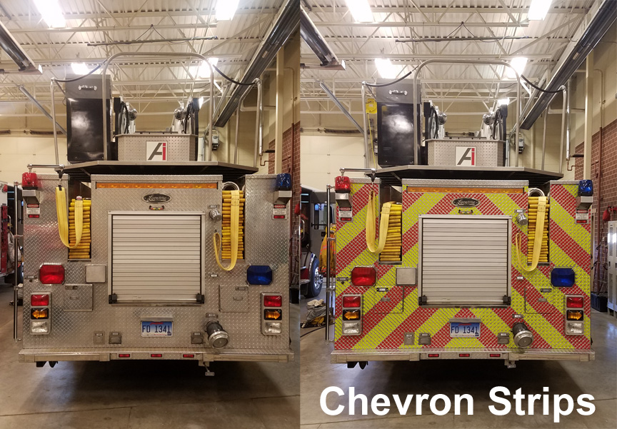 Chevron Strips Lime Red V98 NFPA 1901